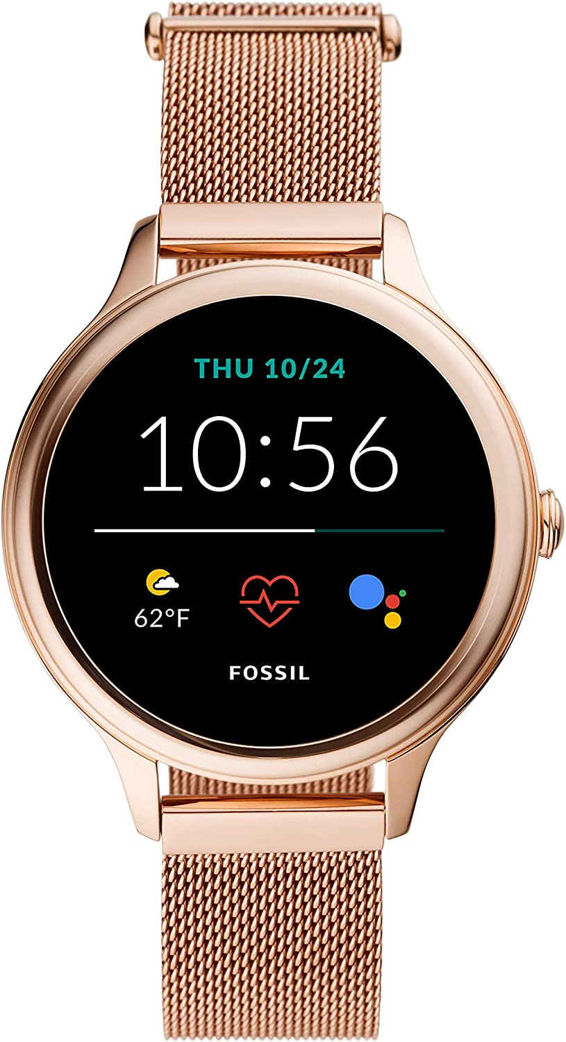 NEW Fossil Women's Gen 5E 42mm Stainless Steel Touchscreen Smartwatch with Speaker, Heart Rate, GPS, NFC, and Smartphone Notifications
