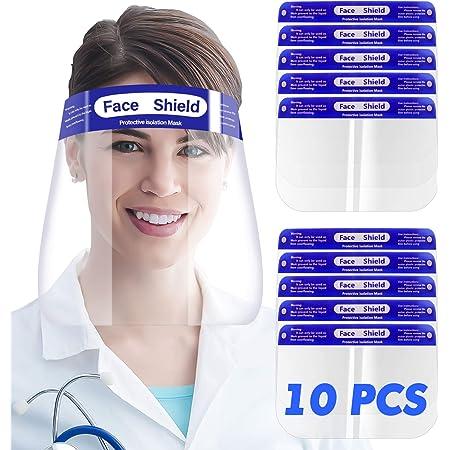 Erg/ónomica y Reutilizable Pack 5 Pantallas Protectoras Faciales Homologada Transparente M/áscara con Cierre Inferior Ajustable 5