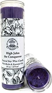 High John The Conqueror 7 Day Soy Spell Candle (Fixed) for Power, Money, Luck, Influence & Prosperity (Wiccan, Pagan, Hoodoo, Magick)