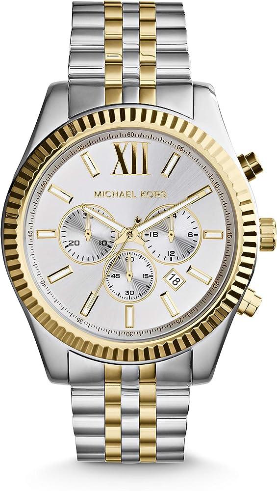 Michael kors,orologio per uomo,in acciaio inossidabile MK8344
