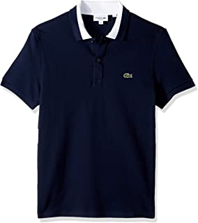 Lacoste Men's Short Sleeve 3 Ply Textured Pique Regular Fit Polo