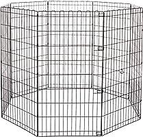 AmazonBasics Foldable Metal Pet Dog Exercise Fence Pen -48*48*48inches