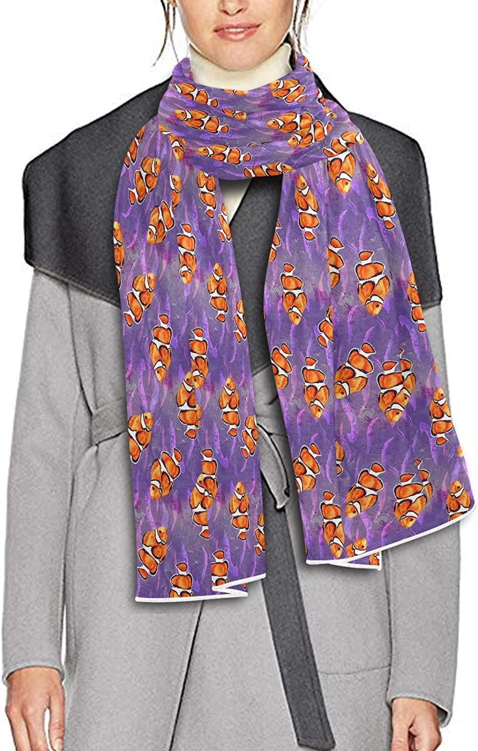 Scarf for Women and Men Clownfish Blanket Shawl Scarf wraps Soft Winter Large Scarves Lightweight