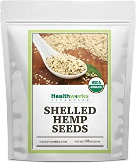Healthworks Shelled Hemp Seeds Organic (32 Ounces / 2 Pounds) | Premium & All-Natural | Canadian or European Sourced | Con...