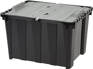 IRIS 48 Quart Wing Lid Utility Storage Box, Black, 6 Pack