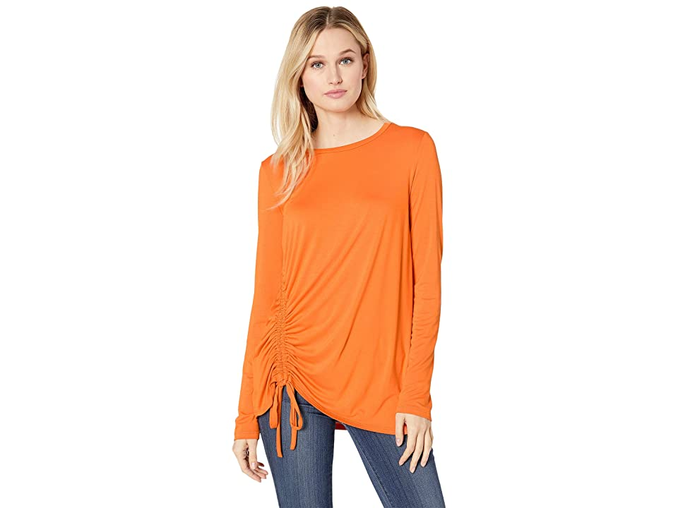 Karen Kane Side Drawstring Top (Orange) Women
