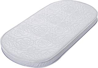 """Big Oshi Waterproof Oval Baby Bassinet Mattress - Waterproof Exterior - Thick, Soft, Breathable Foam Interior - Comfy, Padded Design, Also Fits Portable Bassinets - 16"""" x 32"""" x 2"""""""