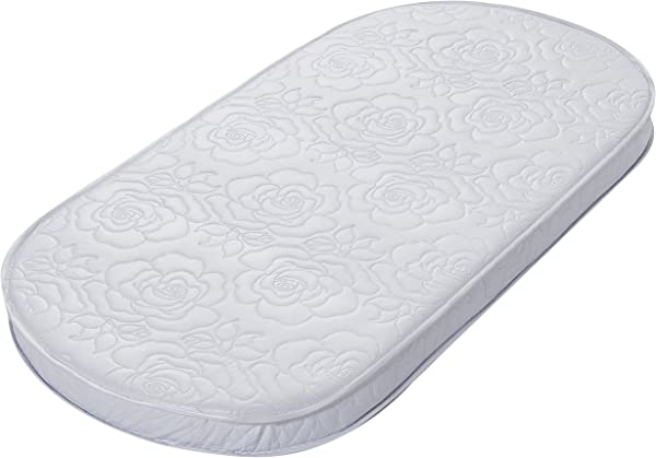 Big Oshi Waterproof Oval Baby Bassinet Mattress Waterproof Exterior Thick Soft Breathable Foam Interior Comfy Padded Design Also Fits Portable Bassinets 16 X 32 X 2