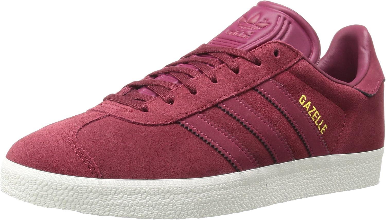 Adidas Originals Gazelle Sneaker,COLLEGIATE BURGUNDY MYSTERY RUBY METALLIC gold,6.5 Medium US