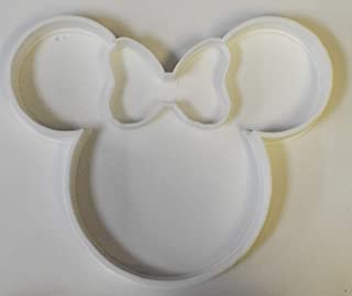 MINNIE MOUSE HEAD WITH BOW DISNEY CHARACTER SPECIAL OCCASION COOKIE CUTTER BAKING TOOL 3D PRINTED MADE IN USA PR308