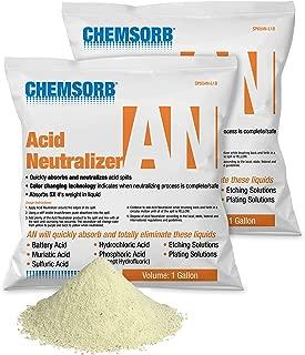 CHEMSORB an -Acid Neutralizing Absorbent, 1 Gallon Bag, (2) Pack