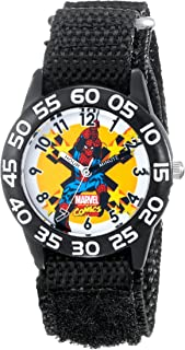 Marvel Kids' W001719 Spider-Man Analog Display Analog Quartz Black Watch