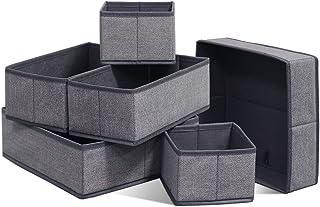 homyfort Organisateur de Tiroir 6 Pièces, Boîte de Rangement Pliable Non-tissé pour sous-vètements, Chaussettes, Utilisati...