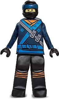 Disguise Jay Lego Ninjago Movie Prestige Costume, Blue, Small (4-6)