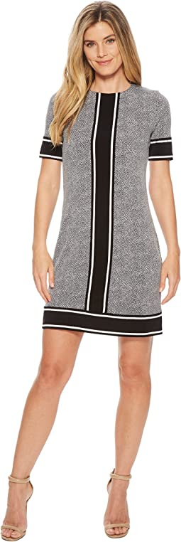 MICHAEL Michael Kors - Short Sleeve Stingray Border Dress