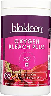 Biokleen Laundry Oxygen Bleach Plus, Concentrated Stain Remover, Whitens & Brightens, Eco-Friendly, Non-Toxic, Plant-Based, No Artificial Fragrance or Preservatives, 2 Pounds, 32 HE Loads (Pack of 12)