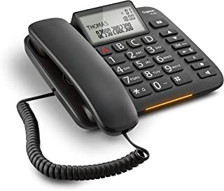 Gigaset DL380 Telefono Fisso, Ampio Display, Grandi Tasti Ergonomici, Visualizzazione Chiamata Tramite LED, Nero [Italia]