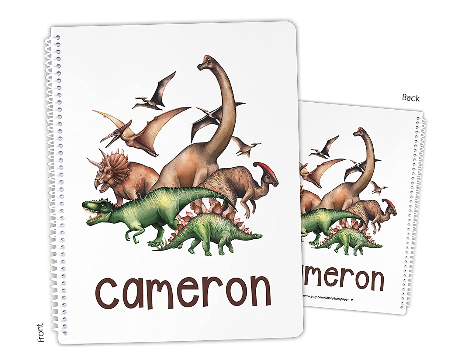 Personalized Dinosaur Dino security T-Rex Popular shop is the lowest price challenge Sketchboo Notebook Bound Spiral