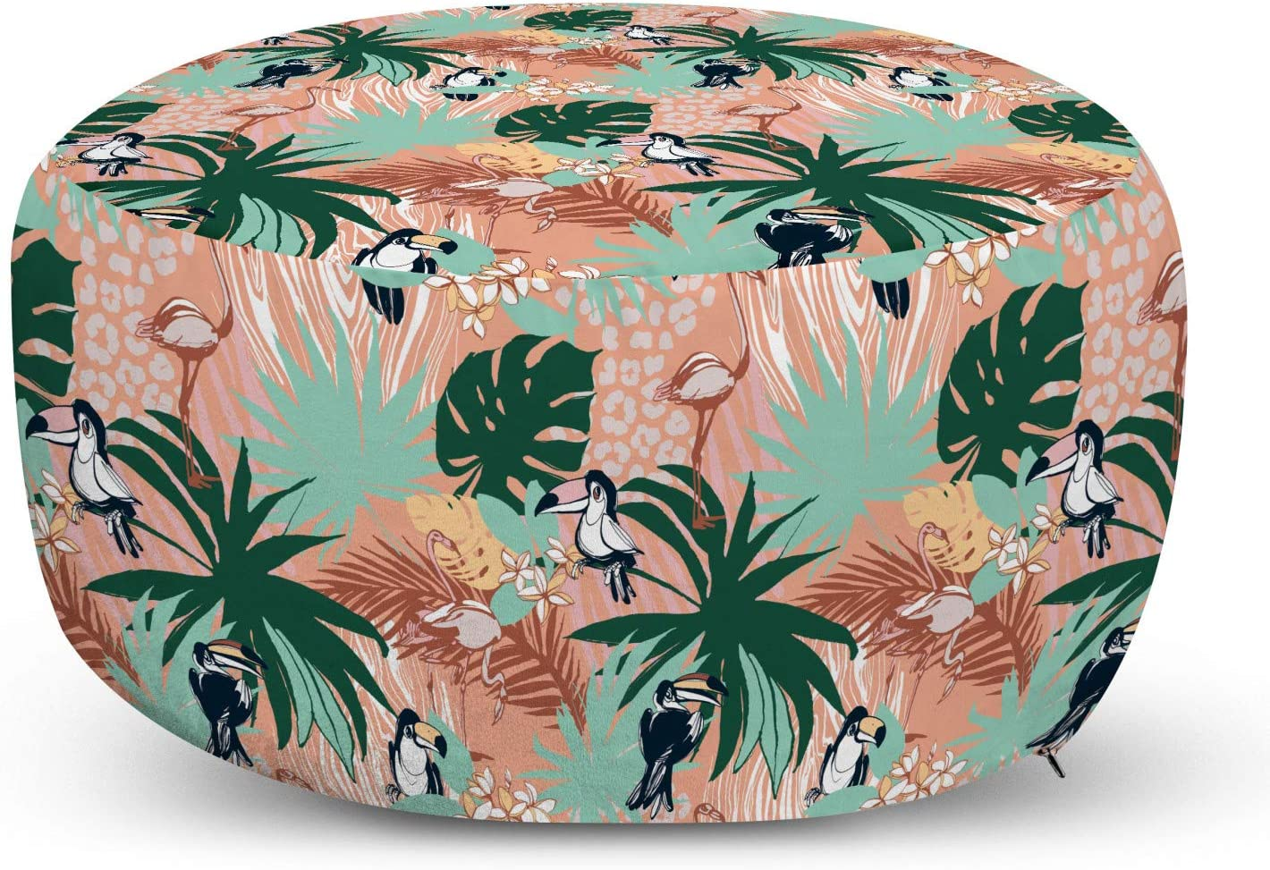 Ambesonne Animals Ottoman Brand ! Super beauty product restock quality top! new Pouf Toucans Forest M in Tropical The