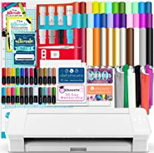 Silhouette White Cameo 4 w/Blade Pack, 38 Oracal Sheets, HTV, Pens, Guides, More