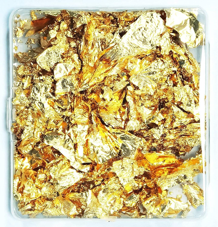 elloni- Metallic Leaf Super-cheap Flake Foil Gold Imitation Fort Worth Mall Flakes