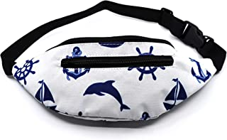 Nautical Fanny Pack for Kids, Sailor Print Waist Bags for Kids