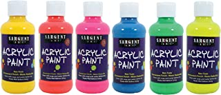 Sargent Art 22-2206 Neon Acrylic Paint, Multicolored 6 Count