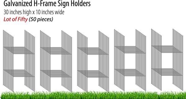 Oversize Planner By ABI Digital Solutions H Frame Yard Sign Stakes 50 H Stake Outdoor Sign Holders Pack Of 50 Yard Stakes For Signs Metal Sign Stakes
