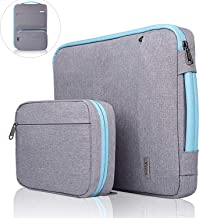 Voova 14-15.6 Inch Laptop Sleeve Bag Cover Special Design Waterproof Computer Protective Carry Case with Detachable Accessory Pocket Compatible with MacBook Pro Retina 15.4