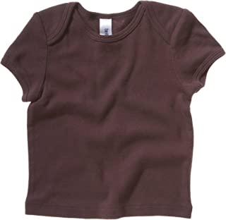 Bella Canvas- Camiseta de manga corta de canalé para bebé unisex (6-12 meses/Marrón chocolate)