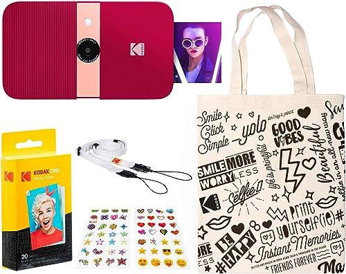 wholesale KODAK high quality outlet online sale Smile Instant Print Digital Camera (Red) Travel Kit online sale