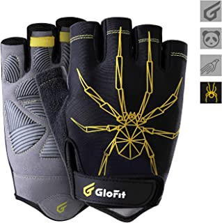 KANSOON GloFit Cycling Gloves, Shock-Absorbing Pad Breathable Half Finger and Anti Slip Mountain Bike Gloves for Outdoor Sports, Bicycle, Mountain Riding, Women and Men