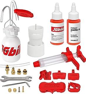 JGbike Standard Bleed Kit for Shimano SRAM AVID Hayes Formula Hydraulic MTB Road Brakes with 120ml Mineral Oil DOT 5.1 Fluid، convertible for MAGURA TEKTRO Giant Disc Brakes