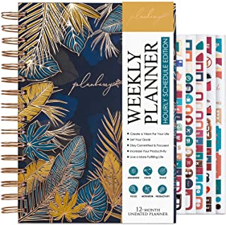 $25 » Sponsored Ad - PLANBERRY Weekly Schedule Planner – Elegant Hourly Schedule & Budget Planner for Time Management & Budgeting - Organizer & Productivity Journal - 6.9″ x 8.5″, Hardcover, Undated (Tropical Forest)