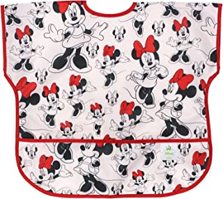Bumkins Disney Minnie Mouse Junior Bib / Short Sleeve Toddler Bib / Smock 1-3 Years, Waterproof, Washable, Stain and Odor Resistant – Classic