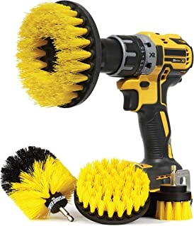 Wheel Brush Kit for Tire and Rim Cleaning   4 pc Drill Brush Car Detailing Attachment Set   Auto Detail and Scrub Brushes ...