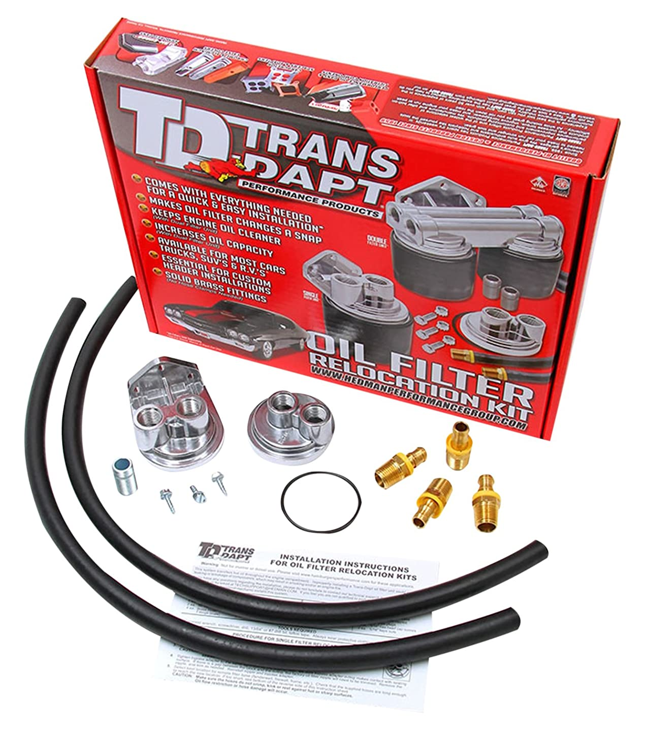 Trans-Dapt 1122 Oil Filter Relocation Kit