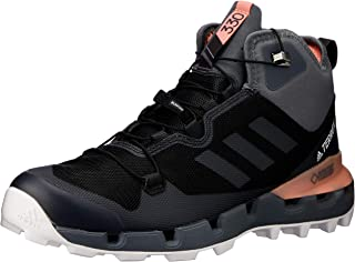 adidas Australia Women's Terrex Fast Mid GTX-Surround Hikings Boots, Core Black/Grey/Chalk Coral