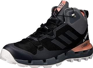 adidas Australia Women's Terrex Fast Mid GTX-Surround Hikings Boots, Core Black/Grey/Chalk Coral