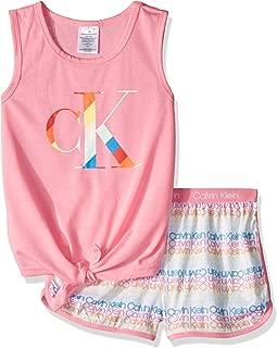 Calvin Klein Girls' 2 Piece Sleepwear Top and Bottom Pajama Set Pj