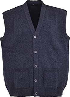 Men Knitted Waistcoat Plus Sizes 3XL to 6XL Kniited Sleeveless Cardigan