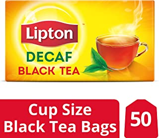 Lipton Black Tea Bags, Decaffeinated, 50 ct, Pack of 12