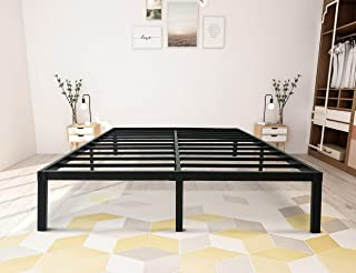 zizin Bed Frame Full Size/Metal 14 Inch Platform Base/Heavy Duty/Steel Slat Support/Easy Assembly/Noise Free/No Box Spring Needed (Full)