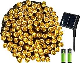 Blanco C/álido Herefun 200LEDs Solar Cadena de Luces 22M Guirnalda Luces Exterior Clase de eficiencia energ/ética A Navidad IP65 Impermeable Con 8 Modos de Luz para Jard/ín Patio Dormitorio Bodas