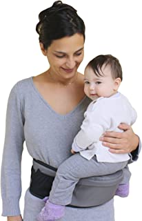 Pomfitis Side Ride Baby Toddler Kid Child Hip Seat Carrier, Grey, 1Pack