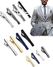 LOYALLOOK 12Pcs Tie Clips Set for Men Tie Clips Bar Pin Variety Set for Regular Skinny Ties Necktie Wedding Business Mens Gifts