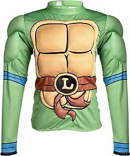 Amscan Teenage Mutant Ninja Turtles Leonardo Muscle Halloween Shirt for Kids, One Size