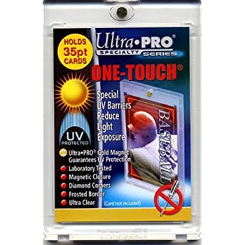 (5) Ultra Pro One Touch Magnetic Card Holder (Fits up to 35pt Card) Baseball, Football, Basketball, Hockey, Nascar, Sportscards, Gaming & Trading Cards Collecting Supplies