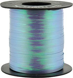 Berwick 3/16-Inch Wide by 250 Yard Spool Crimped Iridescent Curling Ribbon, Light Blue