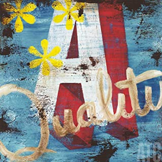ArtToCanvas 36W x 36H inches : Letter A by Rodney White - Paper Print ONLY